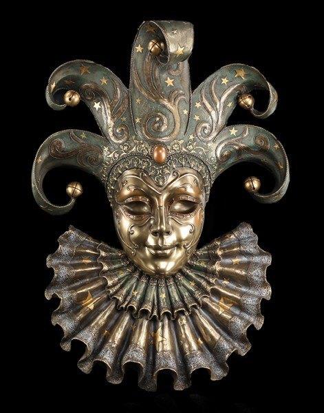 Große Venezianische Maske - Harlekin