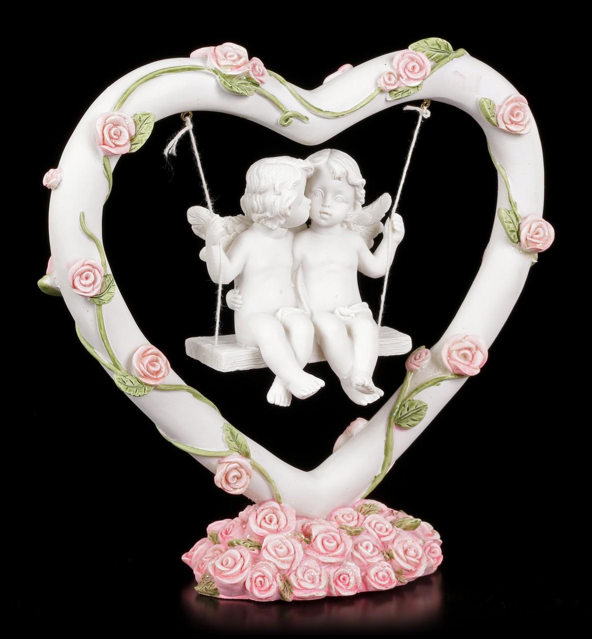 Herzschaukel mit zwei verliebten Engeln