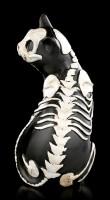 Schwarze Skelett Katzen Figur - Dreht sich um