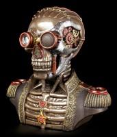 Steampunk Skelett Büste mit Schatullen - Der Konteradmiral