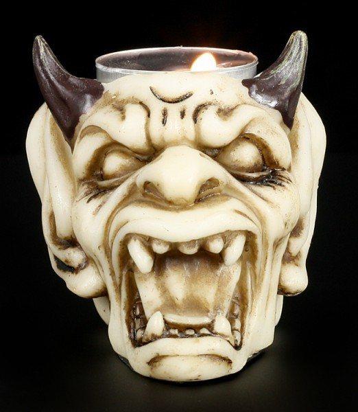 Tealight Holder - Devil Skull