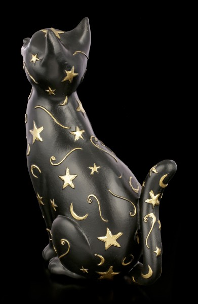 Cat Figurine with Moon and Stars - Felis