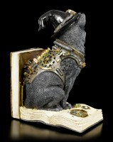 Bookend Steampunk Cat - Purring Pioneer