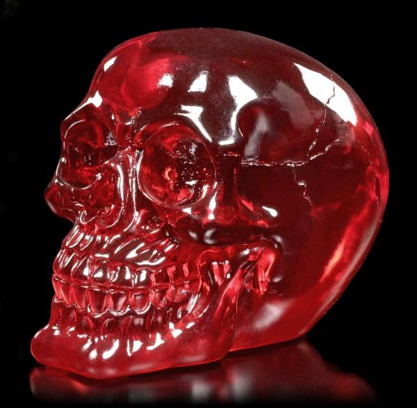 Durchsichtiger Totenkopf rot - Blood Skull