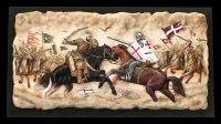 Wandbild - Schlacht der Kreuzritter vs. Sarazenen