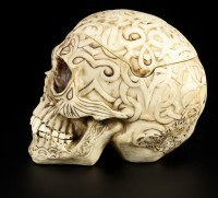 Tribal Celtic Skull Ashtray Box large