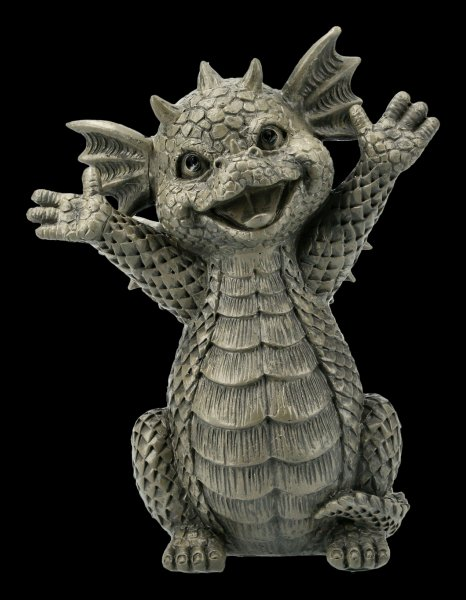 Small Garden Figurine - Happy Dragon