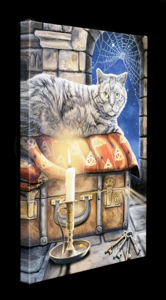 Small Canvas with Cat - The Keeper of Secrets