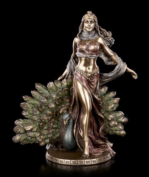 Hera Figur mit Pfau - Griechische Göttin