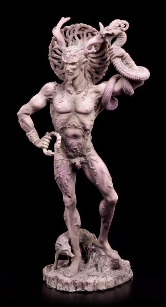 Götter Figur - Gehörnter Cernunnos - grau-lila