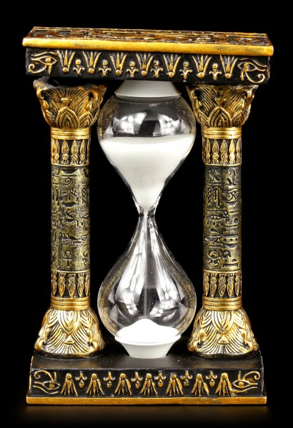 Egyptian Hourglass with Ankh and Eye of Ra Symbols