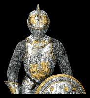 Knight Figurine in Splendid Armor with Sword