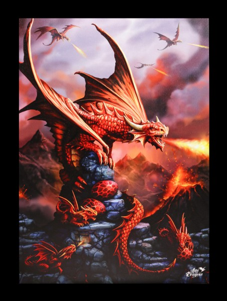 Große Leinwand Feuerdrache - Fire Dragon