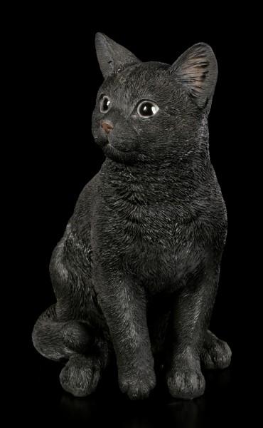 Sitting Black Cat Figurine