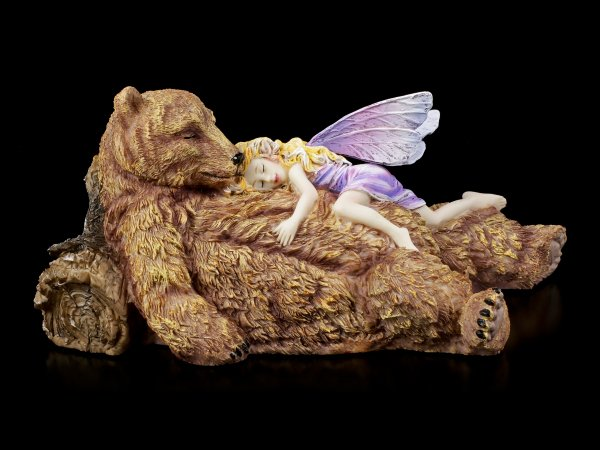 Feen Figur auf Bär - Bear Hug