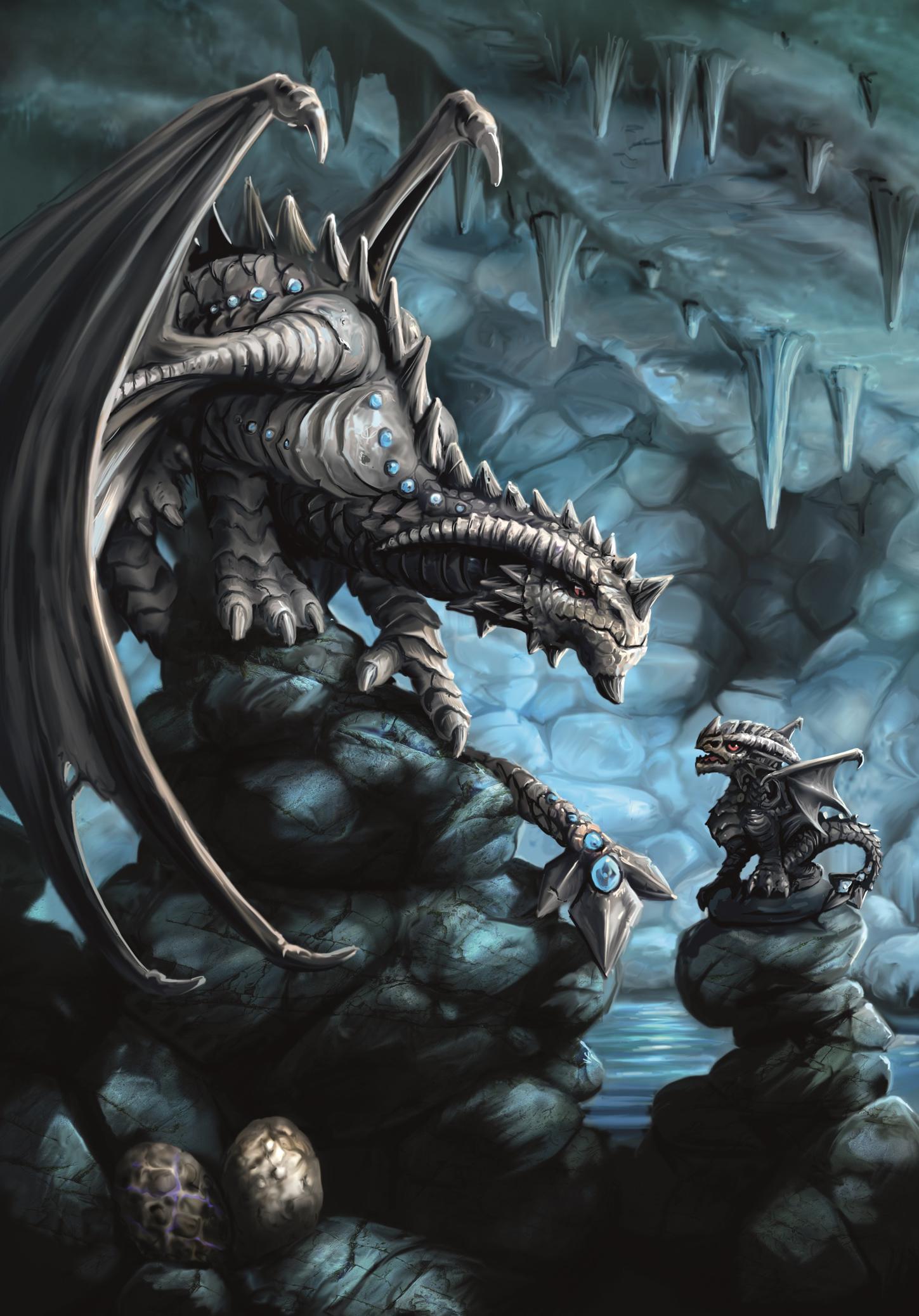 Drachen Grußkarte Age Of Dragons Rock Dragon