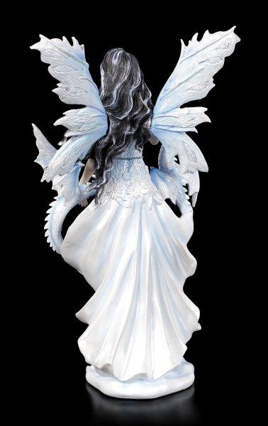 Elfen Figur - Ramira mit zwei Drachen