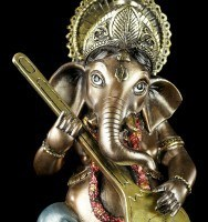 Small Ganesha Figurine playing Sitar