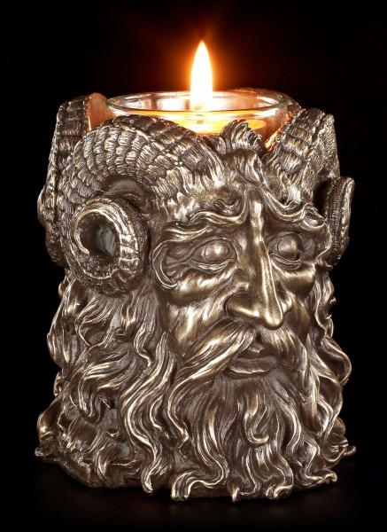 Teelichthalter - Gehörnter Gott