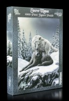 Jigsaw Puzzle with Wolves - Snow Kisses