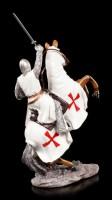 Knight Templar Figurine - Crusader on Horse