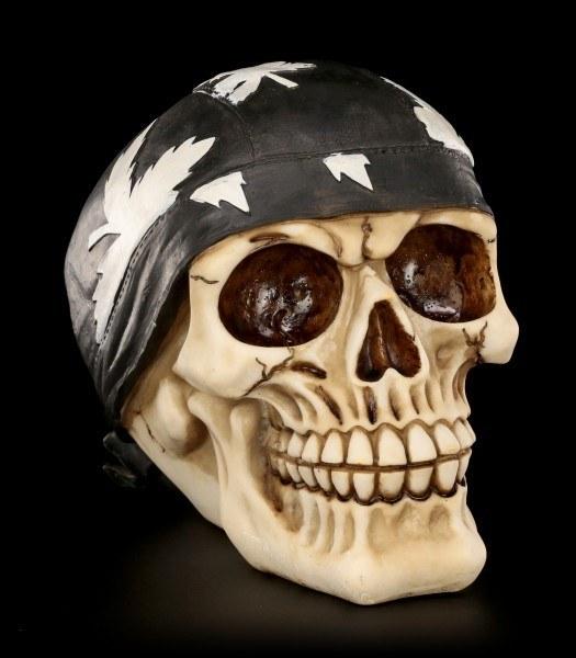 Totenkopf mit Rocker Bandana