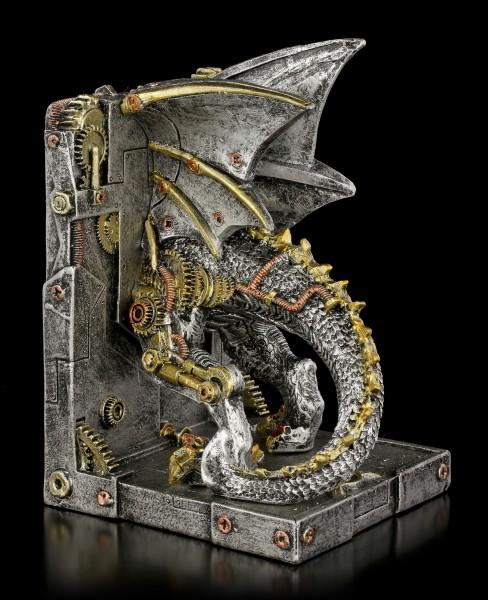 Steampunk Drachen Buchstützen - Dracus Machina