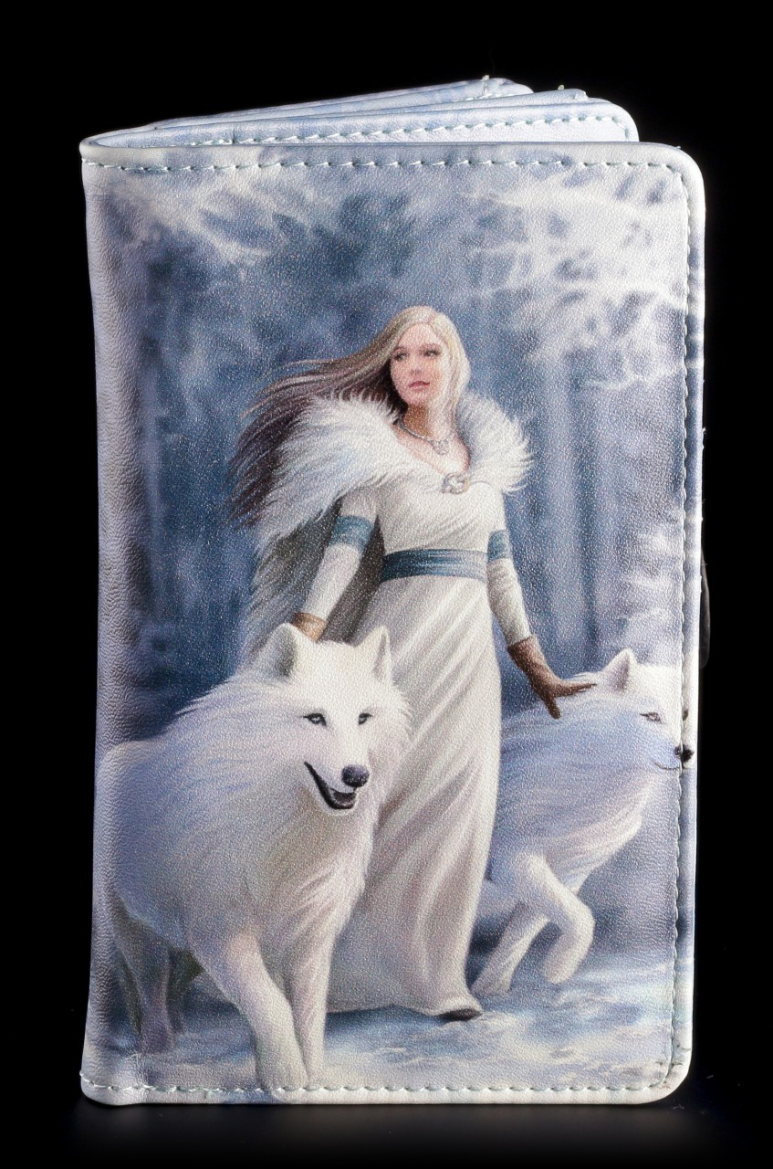 Geldbörse mit Wolf - Winter Guardians
