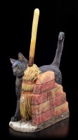 Cat Figurine - A Brush with Magic by Lisa Parker
