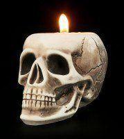 Tealight Holder - Human Skull - small