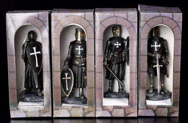 Tempelritter schwarz 4er Set