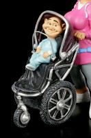 Funny Family Figurine - Mother with Buggy