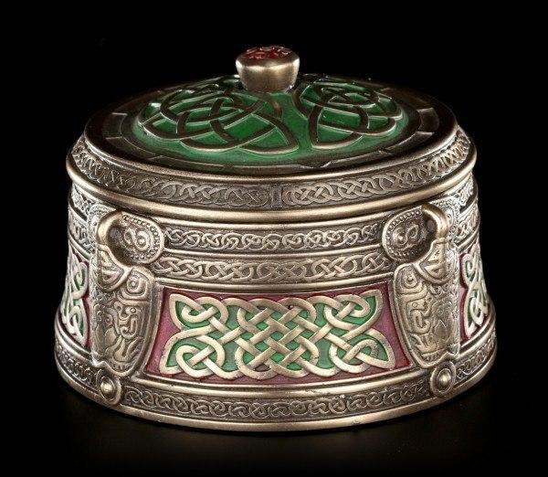Round Celtic Trinket Box