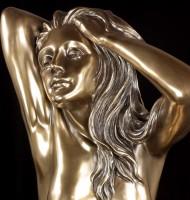 Large Nude Figurine - Amorous Woman - Reflection