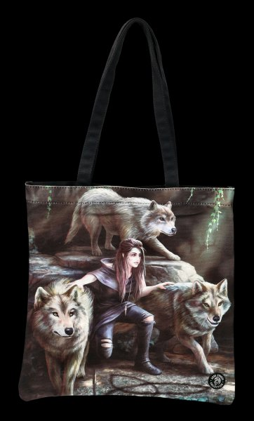 Tote Bag with Wolves - Power Of Three
