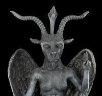 Schwarze Baphomet Figur