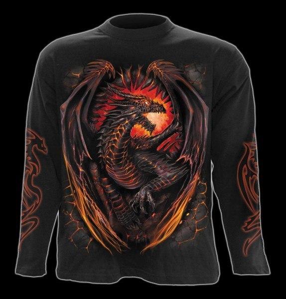 Langarmshirt Drache - Dragon Furnace