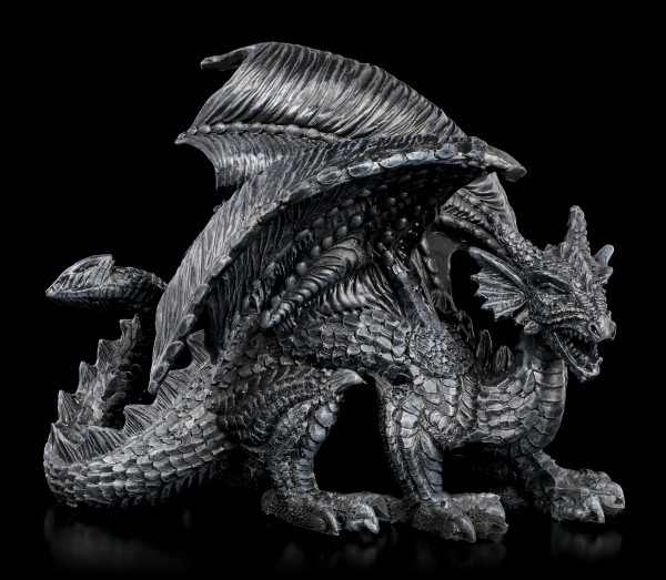 Black Dragon Figurine - Painful Visitor