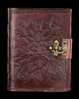 Leather Journal with Lock - Greenman