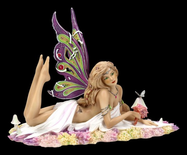 Jewelled Fairy Figurine - Petalite - limited