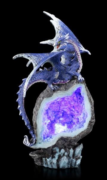 Dragon Figurine LED - Cobalt Custodian