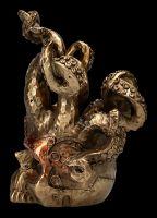 Flaschenhalter - Steampunk Schädel mit Tenttakeln
