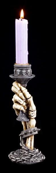 Skeletthand Kerzenhalter - Aus der Gruft