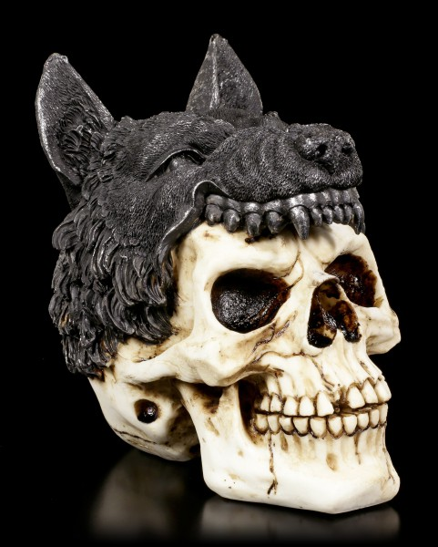 Skull with Wolf - Sharman