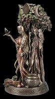 Celtic Trinity Goddess Figurine - Old, Mother & Girl