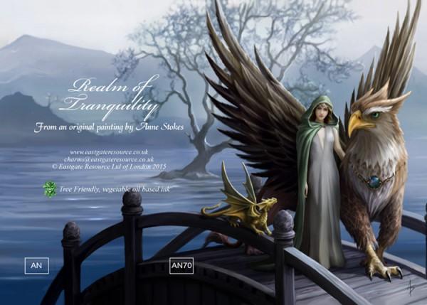 Fantasy Grußkarte Greif - Realm Of Tranquility