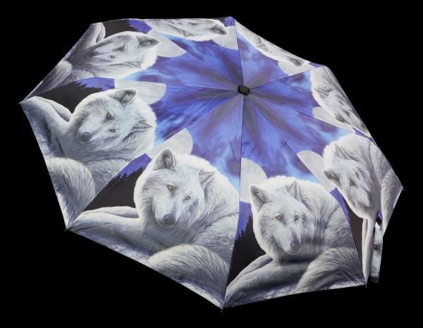 Regenschirm mit Wolf - Guardian of the North