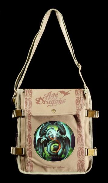 Schultertasche mit 3D Drache - Jade Emerald Dragon