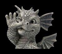 Gartenfigur - Drache Frechdachs klein