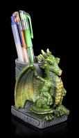 Drachen Stiftebecher grün